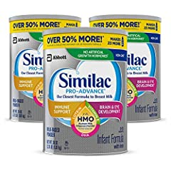 NUMBER 1 BRAND FOR IMMUNE SUPPORT: Similac Pro-Advance is the first infant formula with 2'- FL HMO designed to be closer than over to breast milk. (IQVIA ProVoice Survey 12 months ending February 2020; not from human milk) VALUE SIZE/SUBSCRIBE & SAVE...