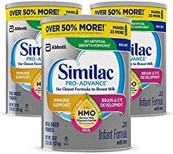 Similac Pro-Advance Non-GMO Infant Formula with Iron, with 2'-FL HMO, for Immune Support, Baby Formula, Powder, (One-Month Supply), 2.25 Pound (Pack of 3)