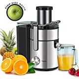 Juicer, Bagotte Upgrade 1000W Juicer Machines, Easy Clean Juice Extractor 3.3' Wide Mouth...