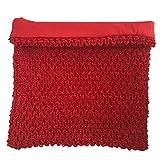 8inches Lined Crochet Tutu Tube Tops Chest Wrap for Girls DIY Tutu Dress Pettiskirt Tube Tops (Red)