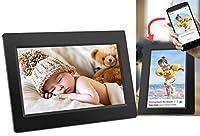 """Écran tactile IPS 10,1"""" pour une image claire. Application FRAMEO facile à installer et à configurer pour Android et iOS disponible Fonction minuteur qui permet d'éteindre le cadre photo automatiquement la nuit et de signatures pour rendre les photos..."""