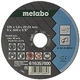 Metabo 616357000, Amoladora, 125 x 1,0 x 22,23 mm, 10 piezas