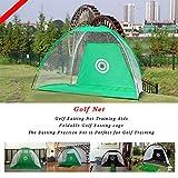 WUTONG Golf Goal Practice Net Goal Net Golf Ring Cut Net Portable Golf Practice Net Simple Assembly Foldable...