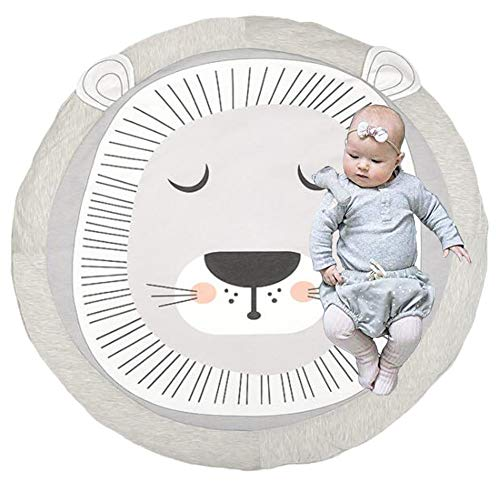 Estera de Arrastre para Bebé,Bebé Alfombra Redonda Crawl Mat,Alfombrillas para bebé Unisex,Alfombrilla de Juego para Bebés,Alfombra para Bebé de Dibujos Animados. (león)