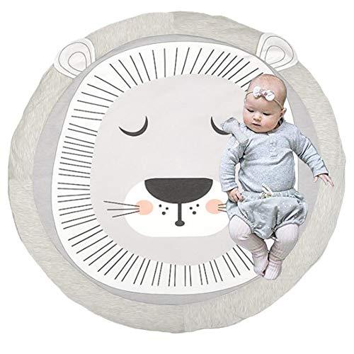 Cartoon Baby Spielmatte,Decke Spiel Matten Baumwolle,Krabbeldecke aus Baumwolle für Kinder,Faltbare Baby Bodenmatte,Spiel Matten Baumwolle,Baby Krabbeldecke,Matt Kinderteppich. (Löwe)