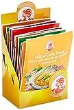 Cock Currypaste Mischkarton, 3x gelb, 3x rot, 2x grün, 2x Matsaman, 2x Panang, authentisch thailändisch kochen, natürliche Zutaten, halal, vegan und glutenfrei (12 x 50 g)
