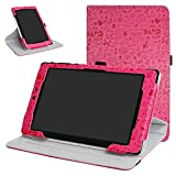 Mama Mouth 360 Degree Rotating Stand with Cute Pattern Case for 8' Nextbook Ares 8 (NXA8QC116) / Flexx 8 (NXW8QC132) / Nextbook 8 (Old Version NXW8QC16G) Windows 8.1 Tablet,Rose Red