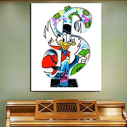 KWzEQ Geldbeutel Leinwand Malerei Wandbild Poster Druck Moderne Malerei Wandbild Wohnzimmer Home Decoration,Rahmenlose Malerei,60x75cm
