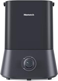 Homech Cool Mist Humidifier, 26dB Quiet Ultrasonic Humidifiers for Bedroom, 4L Air Humidifier for 12-50 Hours of Run Time, 360° Nozzle, Auto Shut-Off and Easy to Clean