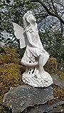 Grande Statue de jardin lumineuse en résine en forme de fée «Secret Garden», fonctionne à...