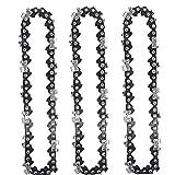 Scie à chaîne chaîne de rechange 4 pouces Longueur 1/4 de hauteur à main chaîne de batterie électrique Scie Sécateurs Accessoires 3PCS A haute résistance à la chaleur