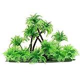 Balacoo Modelo de Palma de Coco Árboles Plantas de Tanque de Peces de Plástico Decoraciones de Acuario Paisaje Modelo Árbol Árboles en Miniatura Tren Ferrocarriles Arquitectura Modelo de