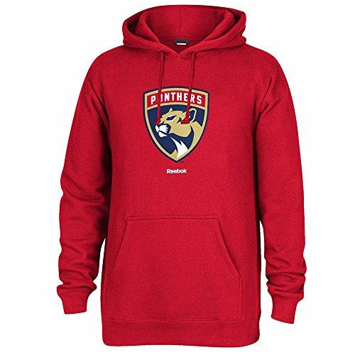 Reebok Florida Panthers NHL Red Team Color Jersey Crest Pullover Fleece Hoodie For Men (L)