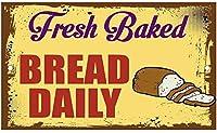 毎日焼きたてのパン、ブリキのサインヴィンテージ面白い生き物鉄の絵画金属板ノベルティ