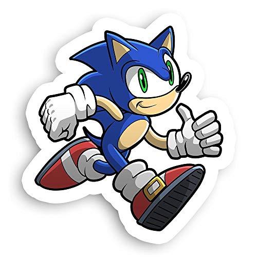 James Art Ville Running Sonic The Hedgehog 'Gotta Go Fast' SEGA Sticker - 2.5' x 2.5'