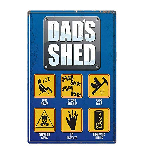 BIT TSHOME Garage Series Dad'S Shed New Metal Tin Sign Retro Vintage Aluminum Signs for Wall Decor Shabby Chic 8x12inch