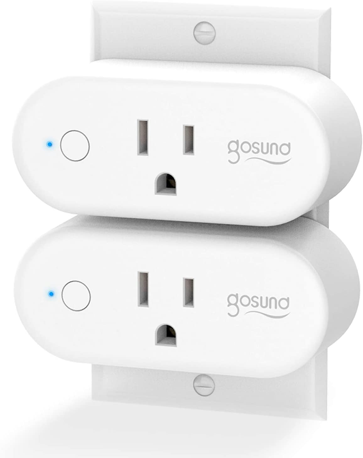 Gosund Smart Plug WiFi Outlet 15Amp Socket Compatible with Alexa Google Home Plugs Schedule and Timer 2 Pack Voice and App Control No Hub Required Upgraded Version