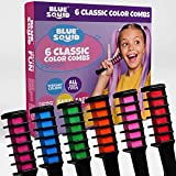 Blue Squid Hair Chalk for Girls – 6pcs Color Combs,, Vibrant Temporary Hair Color for Kids, Washable Hair Dye, Teenage Girls Gifts Ideas, Perfect 6 7 8 9 10 11 12 Girl Gifts