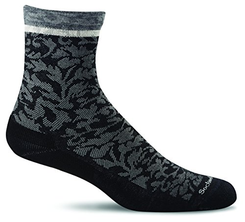 Sockwell Women's Plantar Relief Cush Crew Socks, Medium/Large, Black