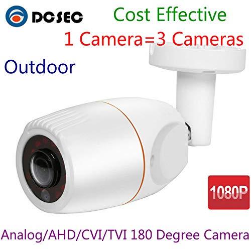 2MP 1080P 180 ° Grado Ojo de pez Gran Angular HD analógico AHD TVI CVI Mini Bullet CCTV cámara de Seguridad al Aire Libre a Prueba de Agua IR visión Nocturna para el hogar