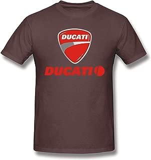 T-Shirt for Men Ducati Logo Vintage Short Sleeve Tee