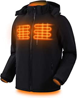Dr.Qiiwi Electric Padded Men's Heated Jackets for Men with Detachable Hood