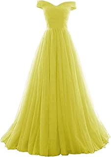 Women's A-line Tulle Prom Formal Evening Homecoming Dress Ball Gown