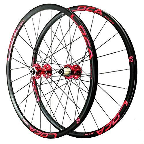 TYXTYX Juego de Ruedas de Bicicleta de montaña de 26/27,5 Pulgadas, llanta de aleación de Doble Pared, Freno de Disco, rodamiento Sellado, 6 trinquetes, liberación rápida, 8 9 10 11 12 velocidades