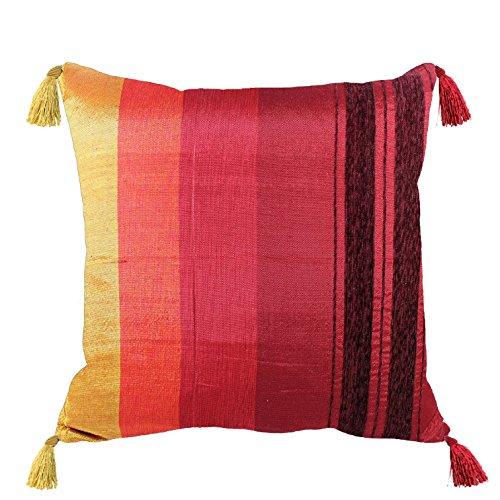 Funda de cojín de estilo marroquí de cactus de seda y chenilla hecha a mano...