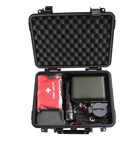 Großes Profi Outdoor Notfall Survival Set 280 x 230 x 98mm wasserdichte Box Selbsthilfe Überlebensset Kanu Camping Wandern etc.