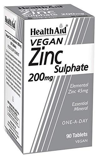 HealthAid Zinc Sulphate 200mg - 90 Tablets (2packs)