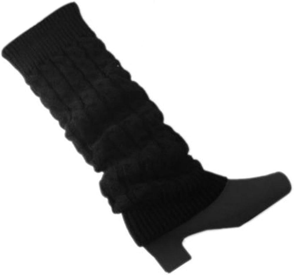 Gilroy Women's Crochet Knitted Braided Knee High Leg Warmers Long Boot Cuffs Socks