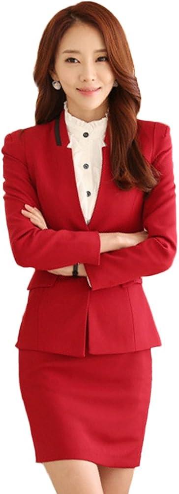 Chickle Women's 2 Piece Formal Wear Bodycon Business Suit Set