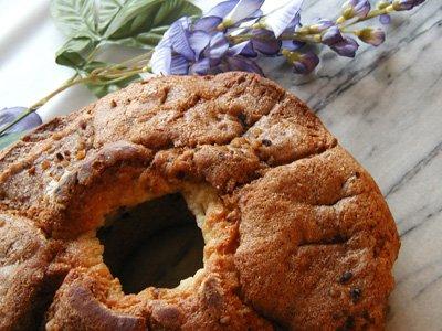 Gourmet Coffee Cake - Cinnamon Walnut-Moist and Sweet - Crunchy Walnuts - Cinnamon Swirl throughout