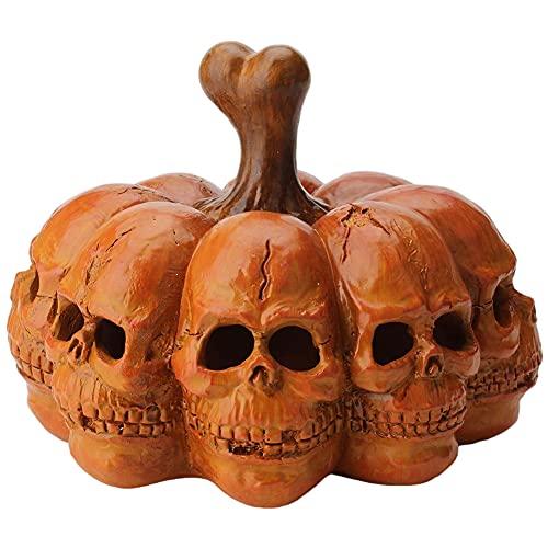 Halloween Led Pumpkin Light Resin Skull Pumpkin Light Draagbare Skeleton Lantaarn Decor