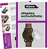 dipos I 6X Schutzfolie klar kompatibel mit Fossil Q Commuter Folie Bildschirmschutzfolie