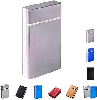 Cigarette Case & Dispensers 100s (10-16 Capacities) Sturdy Cigarette Holder Metal Exterior and Plastic Inner Cigarette Accessories