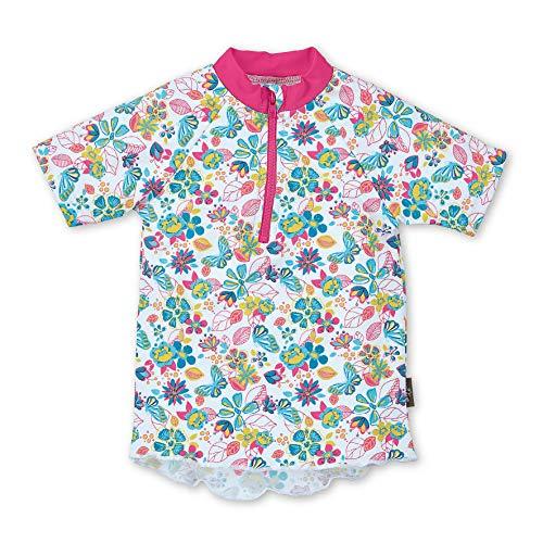 Sterntaler Kurzarm-schwimmshirt Camisa Rash Guard, Blanco, X-Large para Niñas