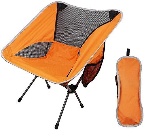 Retour haut extérieur Pêche Camping pliante avec chaises de poche robuste capacité portable Chaises de jardin for Park Beach Sports Events, Couleur: orange (Color : Orange)