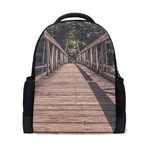 Rucksack Wald Holzbrücke Rucksack Perfekt für Schulreisen Kindertagesstätte für Teen Boys Girls