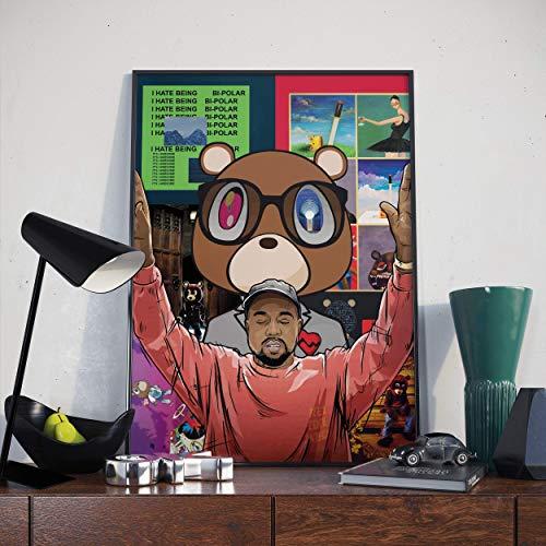 Kanye West Poster | Kanye Compilation Print (A2 Size)