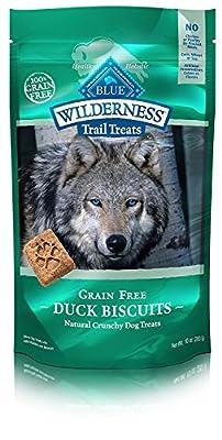 Blue Buffalo Wilderness Trail Treats High Protein Grain Free Crunchy Dog Treats Biscuits, Duck Recipe 10-oz Bag