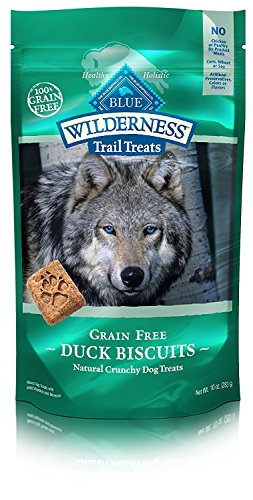 Blue Buffalo Wilderness Trail Treats High Protein Grain Free Crunchy Dog Treats Biscuits Duck Recipe 10oz Bag