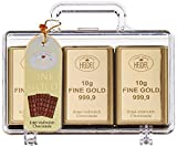 Confiserie Heidel Großer Goldkoffer Edel-Vollmilch, 1er Pack (1x 120 g Packung)