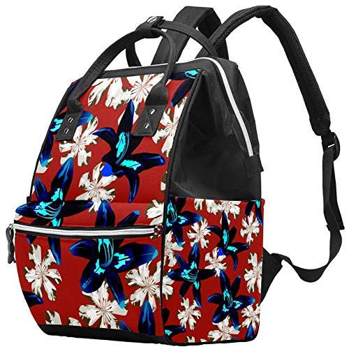 Mochila multifunción grande para pañales de bebé, diseño de flores filipinas, selva australiana, bolsa de viaje para mamá y papá