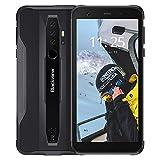 Blackview BV6300 Outdoor Smartphone ohne Vertrag - Ultraslim Ergonomisches Design - 5,7 Zoll Android 10, 13MP Quad-Kamera, 3GB/32GB, 4380mAh Akku, Dual SIM Handy - Schwarz