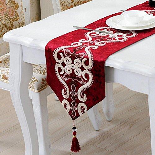 LXZ Chemins De Table, Vintage Chemin De Table À Toile Flanelle Lin Jacquard De Jute Et Burlap De Table Décoration Pour Maison Mariage , 33X250Cm