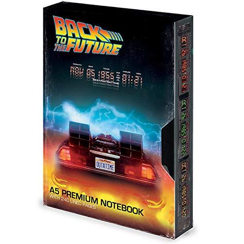 Retour Vers Le Futur - Carnet de notes A5 Premium (Great Scott) VHS