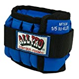 All Pro Adjustable Therapeutic Ankle & Wrist Weights, Wrist, 10 lb. = 20, 1/2-lb.wts.