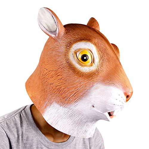 supremask Disfraz de ardilla para Halloween, de ltex, color naranja
